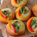 彩り野菜の総菜パン