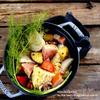 キャベツとさつま芋のペパーポトフ