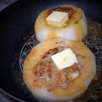 フライパンで豪快☆冬瓜餃子種入り~バターソースで~