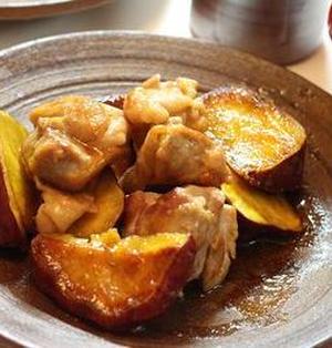 鶏肉とさつまいものこっくり煮