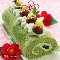 抹茶のシフォンロールケーキ レシピ