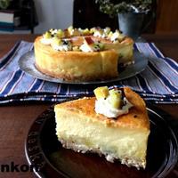 【簡単!!さつまいものお菓子】スライスチーズでOK!濃厚スイートポテトチーズケーキ