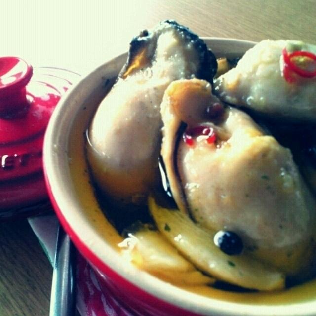 牡蠣のにんにくオイル煮