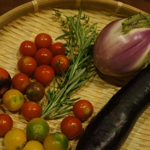 塩麹とハーブ風味のグリルチキン トマトとなすソテー添え