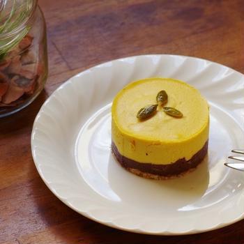メープルパンプキンショコラのローケーキ