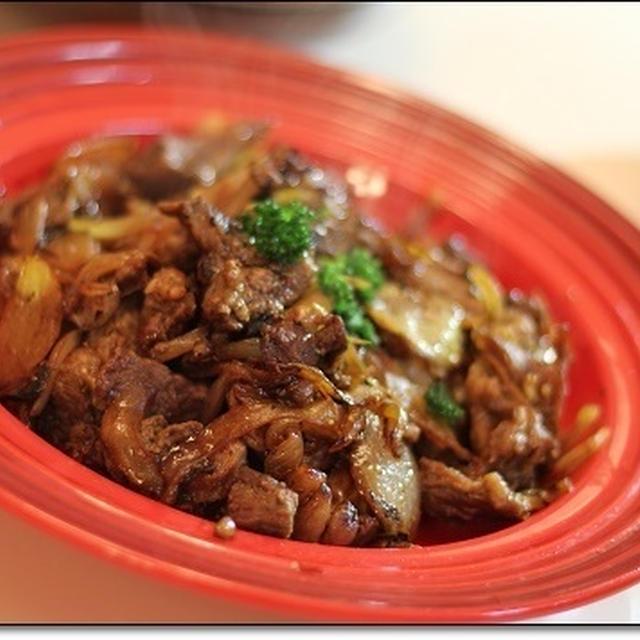 そずり肉と玉ねぎのペパー炒め☆冬至☆