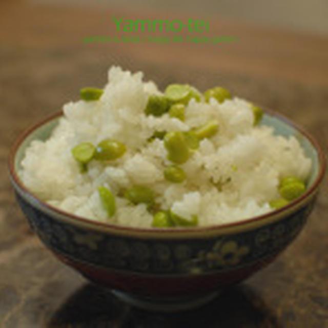 懐かしの?!グリンピースご飯☆豆がグリーンな秘密は。。