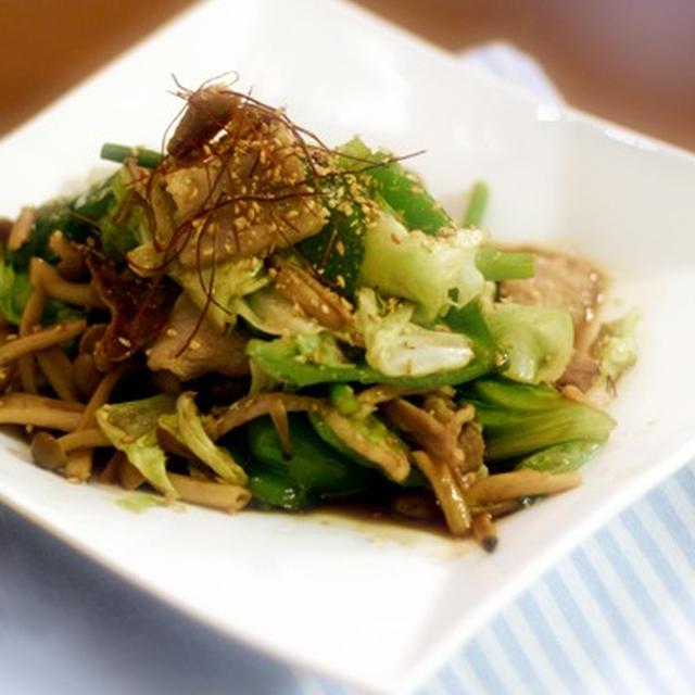 野菜炒めと酢の物と…