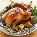 丸鶏のローストチキン