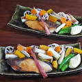 フライパンで簡単!鰤のふっくら塩焼きと賑やか季節野菜のグリル