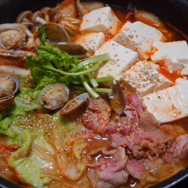 ゴマ味噌キムチ鍋