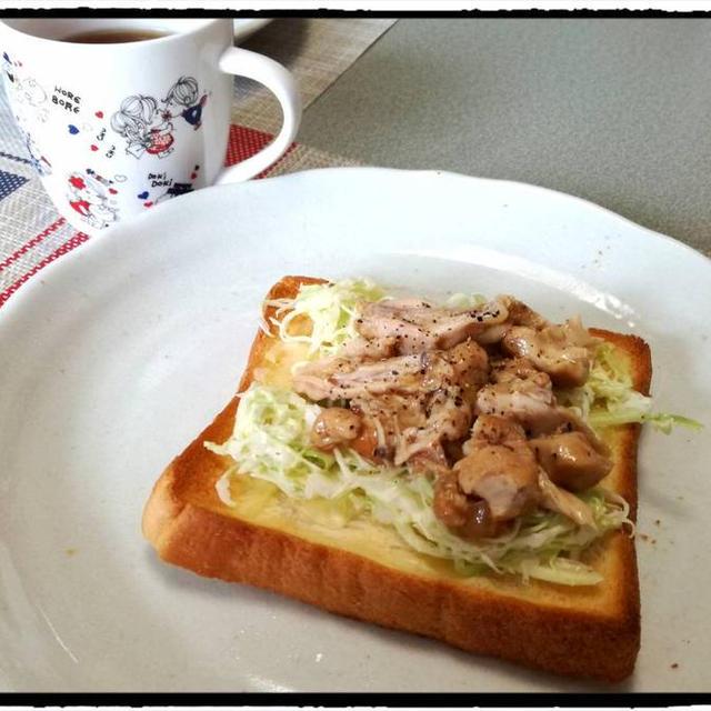 手羽元リメイク!照り焼きパンの朝ごはん!!