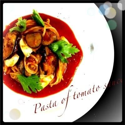 ~* モッツァレラチーズと茄子のトマトソースパスタ *~