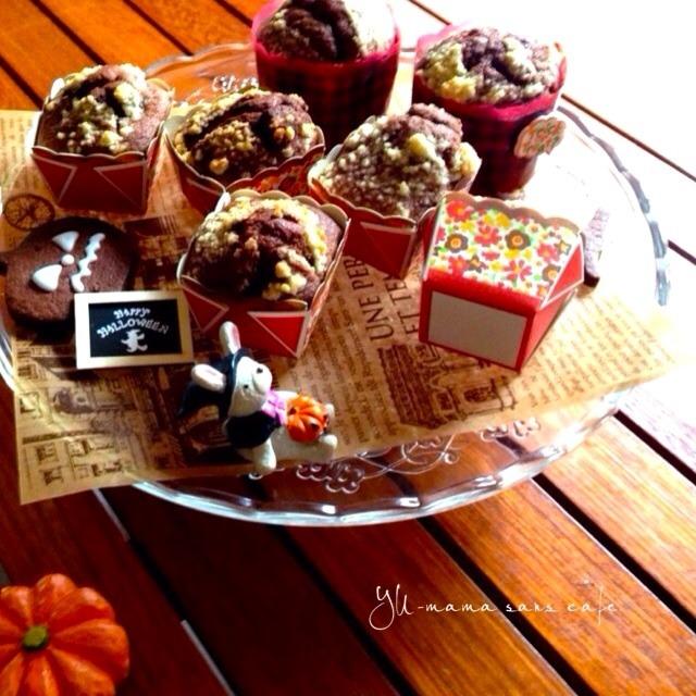 チョコバナナカップケーキ♡〜ハロウィンのお菓子②〜