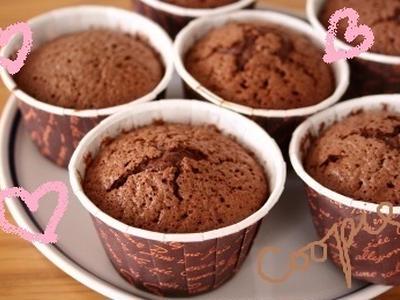 >バレンタイン♪簡単チョコレートレシピ「フォンダンショコラ」 by クーピーさん