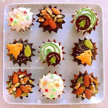 クリスマスのカップケーキ (覚え書き)