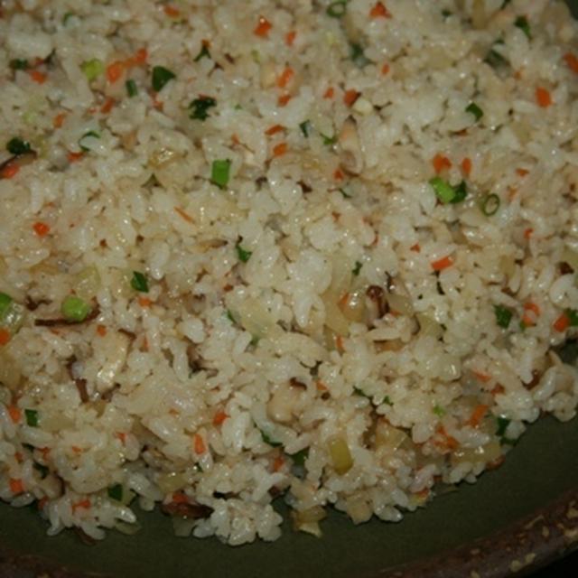 1月4日  椎茸とW葱炒飯