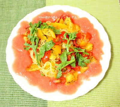フレッシュトマトをダブルで味わう♪トマトのカッペリーニ