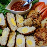 ボーソー米油でカリッと揚げよう☆うずらの卵とチーズinチキンナゲット♡