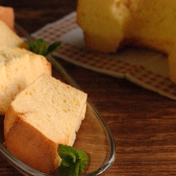 豆腐のシフォンケーキ