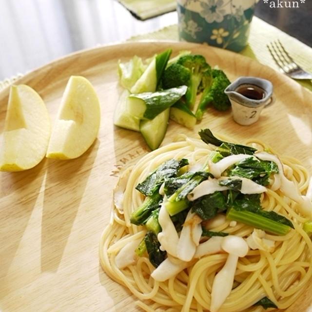 春です♪地元野菜かき菜で朝ごはん数種と焼肉弁当と PRESENT!