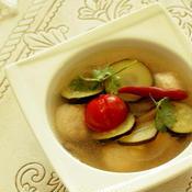 * タイ風  チキンつくねのトムヤムスープ♪