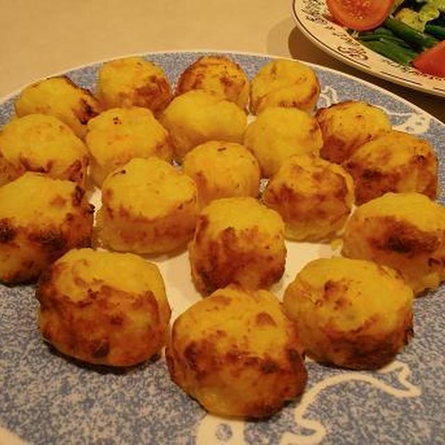 フワフワの海老入りバターポテト 揚げずにオーブン焼き