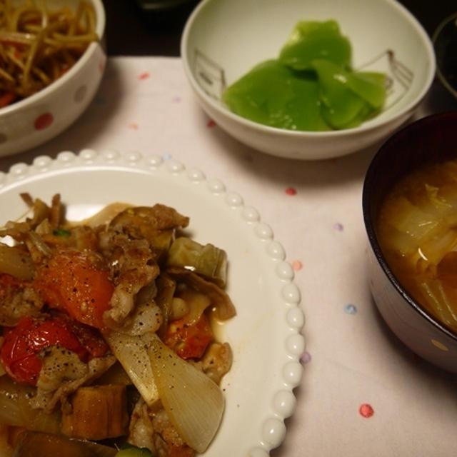 豚肉といろいろ野菜炒め