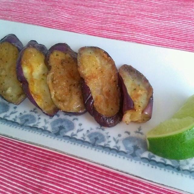 ○エスニック!タイ風ピリ辛なすの蒲焼き GABANパクチー風味