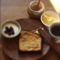 【美味安心】伝統製法バターとはちみつジンジャーじゃむのトースト