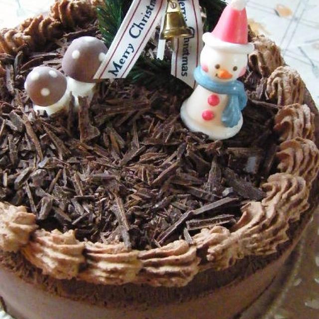 クリスマスに♪チョコレートのデコレーションケーキ
