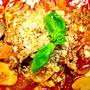 豚肉とエリンギのトマトスープパスタ