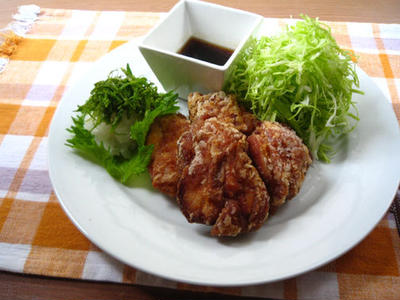 鶏の竜田揚げ withおろしポン酢