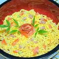 【レシピ】全体運、金運、人間関係運、健康運アップ!鶏そぼろとサーモンのちらし寿司