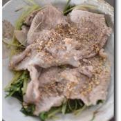 水菜と豚肉の大名焼き風