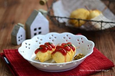 グルテンフリー天ぷら粉で作るミニアメリカンドック