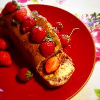苺尽くしのパウンドケーキ