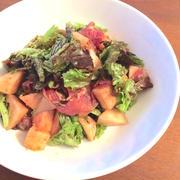桃と生ハムで作るイタリアンサラダ by micvanyさん