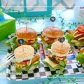 市販のパンで『可愛いミニバーガー』作り★タンドリーチキンバーガー