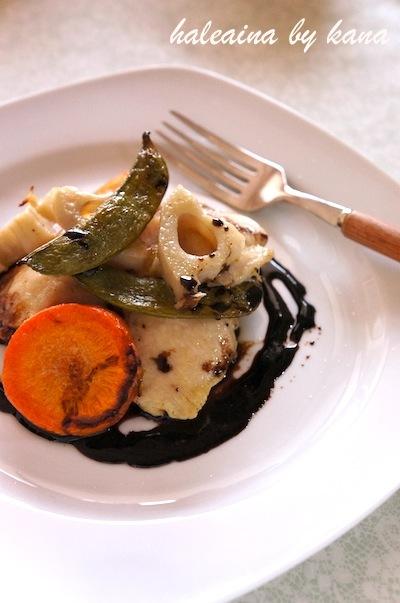 鶏むね肉と野菜のオーブン焼き ハニーバルサミコソース
