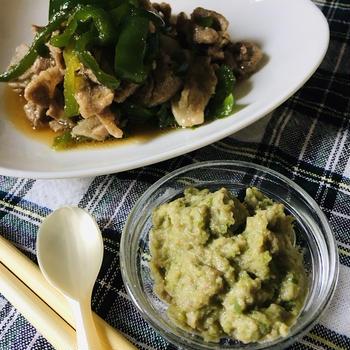 ミキサー食:豚肉とピーマンのオイスターソース炒め & もう一人も大事!