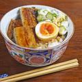 美味しさ3倍!煮卵とネバネバ山芋とオクラの鰻丼