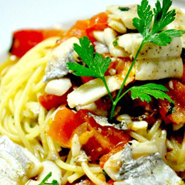 太刀魚とトマトのパスタ