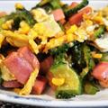 ■菜園料理【簡単に美味しく♪オイスターチリで ゴーヤチャンプルー】 by あきさん