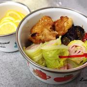 オープンスクールのムスメ弁当と塾前ご飯。
