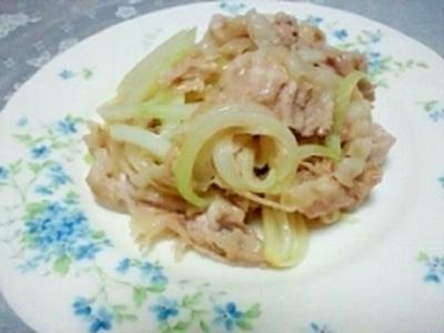 豚オニオン塩麹炒め