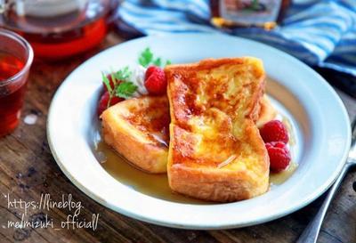 ♡ふわとろリッチ♡厚切りフレンチトースト♡【#朝食#ランチ#おやつ#食パン#簡単レシピ】