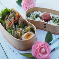 3月23日 チャプチェ春巻き弁当&紫蘇チーズ豚カツ弁当 と かつ丼の晩ごはん
