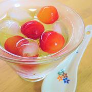 食後のデザートに♪さくらんぼアイスティー by kaana57さん