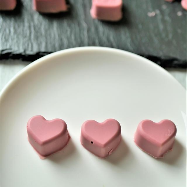 ルビーチョコレートのボンボンショコラ♪